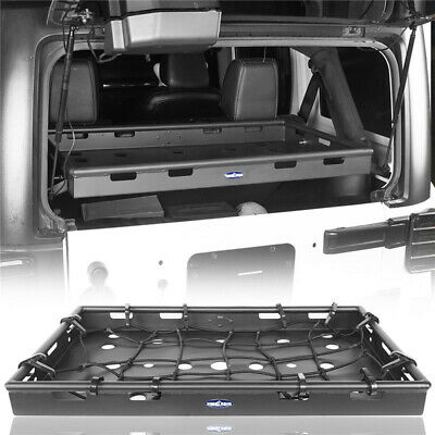 AU342.46 • Buy Textured Black Interior Rear Cargo Rack Steel For Jeep Wrangler JK 11-18 4 Door