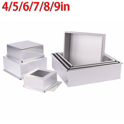 AU23.34 • Buy 4/5/6/7/8/9 Inch Cake Bread Food Pan Square Cake Tin Baking Mould Non Stick Mold