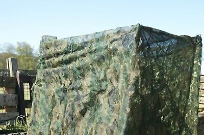 4m X 1.5m 3D Leaf Green Hedgerow Camo Stealth Pigeon Shooting Decoying Hide Net • 32.99£
