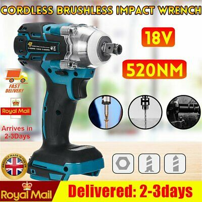 Torque Impact Wrench DTW285Z Brushless Cordless Replacement For Makita Battery • 24.90£