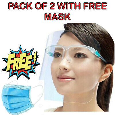 Full Face Covering Anti-fog Shield Clear Glasses Safety Protection Visor Guard • 3.99£