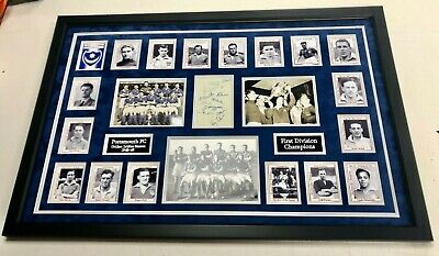 Portsmouth Fc 1948 Champions Signed Display - Pup - Pompey Coa • 499.99£