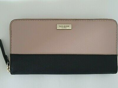 $ CDN59.32 • Buy Nwt Kate Spade Laurel Way Neda Large Continental Wallet Warm Vellum Black $ 189