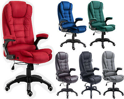 Cherry Tree Furniture Executive Recliner Extra Padded High Back Massage Chair • 120.99£