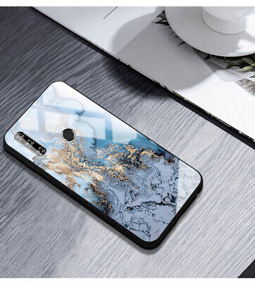 AU15.95 • Buy For Huawei Y9 Prime/Y7 Pro 2019 Case Cover Fashion Black/Blue Marble Protective