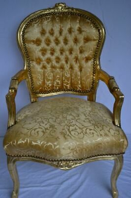 £119 • Buy Louis Xv Arm Chair French Style  Vintage Furniture Gold