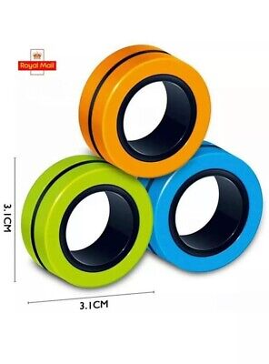 Fingears Magnetic Ring Toy - Finger Spinner Toy Multi Activity Stress Relief Uk • 2.59£