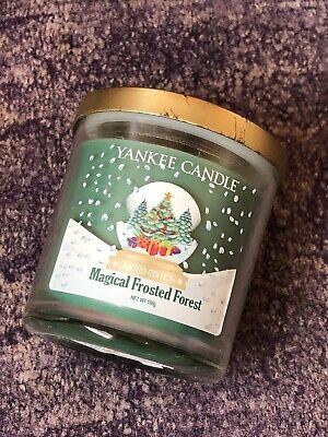 £20 • Buy YANKEE CANDLE SMALL JAR 'MAGICAL FROSTED FOREST TUMBLER -RARE,RETIRED Christmas