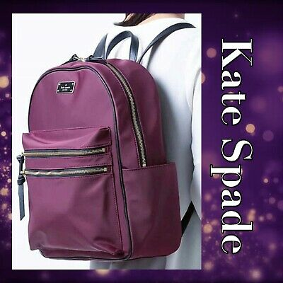 $ CDN197.72 • Buy Kate Spade Large Bradley Wilson Road Deep Plum Backpack!!! NEW!!!!!