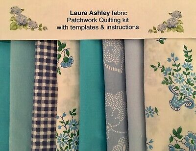 Laura Ashley Fabric Turquoise Patchwork Quilt Kit+instructions -size Choice • 16.50£