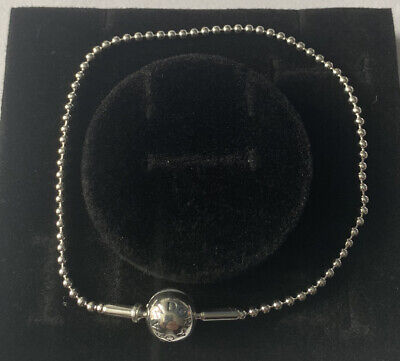 Pandora Essence Beaded Silver Bracelet Size L Brand New In Gift Box • 34£