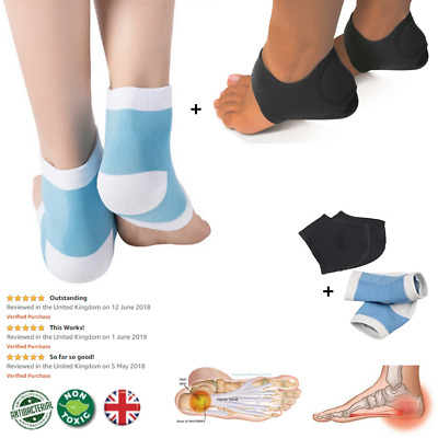 Plantar Fasciitis Foot Compression Support Heel | 2 Pairs | Arch Support • 3.99£