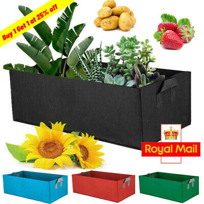 Raised Plant Bed Garden Flower Planter Elevated Vegetable Box Planting Grow Bag • 6.99£