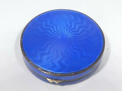 Art Deco  Sterling Silver Guilloche Compact Or Pill Box • 136.77£