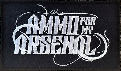 £2.99 • Buy Ammo For My Arsenal Logo Embroidered Patch 10cm X 6cm