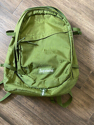 $ CDN264.24 • Buy Supreme Backpack SS19 Olive Green Repeat Logo 9.5 Of 10 Condition