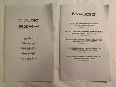 $2.99 • Buy M-Audio BX8D2 User Guide And Safety Instructions