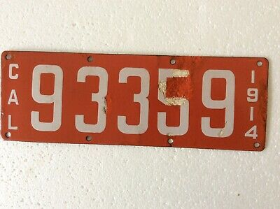 $ CDN185.34 • Buy 1914 California Porcelain License Plate 93359 -  Big Pine, CA