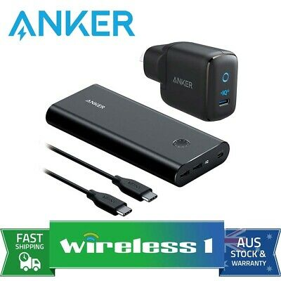 AU259 • Buy Anker PowerCore+ 26800 PD 45W With 60W Wall Charger - Black Metal