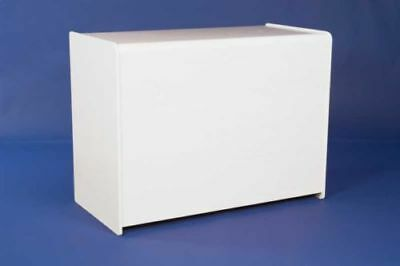 WHITE 1200mm COUNTER  WITH SHELF RETAIL DISPLAY SHOP FITTINGS CASH TILL WRAP NEW • 149£