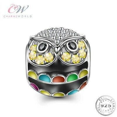 Owl Charm Genuine 925 Sterling Silver 💞 Gift • 15.99£