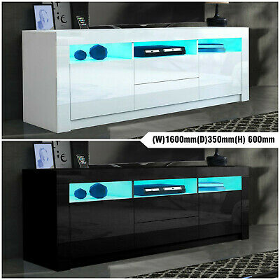 AU239.99 • Buy 160CM TV Stand Cabinet LED TV Entertainment Unit Gloss Front Storage White Black