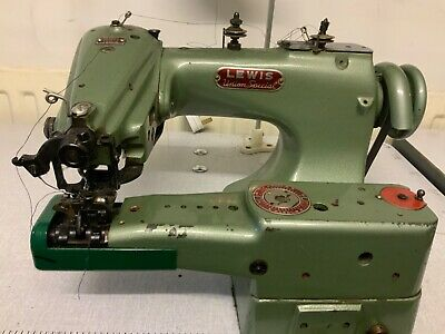 Lewis Union Special 150-2 Blind-stitcher Hemmer Hemming Sewing Machine And Table • 395£