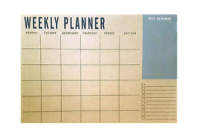 Weekly Planner Desk Pad Planner Contains 50 Sheets 100gsm Paper Weekly View • 5.99£
