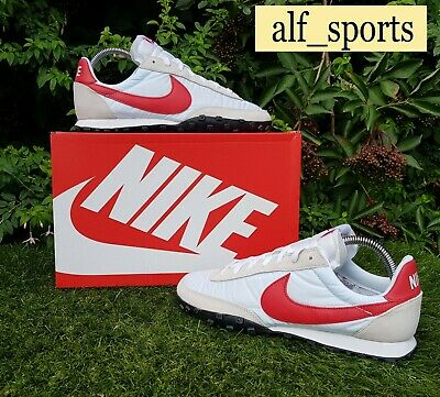£84.99 • Buy ❤ BNWB & Authentic Nike ® Waffle Racer Retro Trainers In White & Red UK Size 10