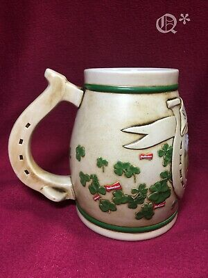 $ CDN33.32 • Buy 1996 Budweiser St Patrick's Day Shamrock Horseshoe Beer Steins Mug