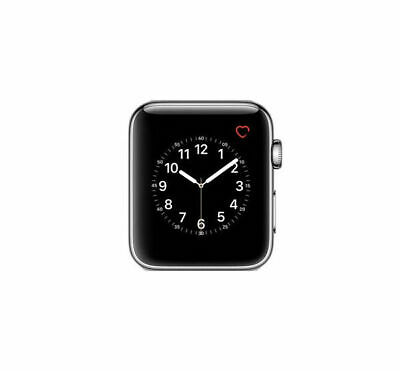 $ CDN217.39 • Buy Apple Watch Series 2 Stainless Steel Silver 42mm A1758 W/ Black Sport Band