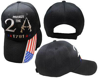 $ CDN15.95 • Buy Protect The 2A 2nd Amendment 1791 USA Flag On Bill Embroidered Black Cap Hat