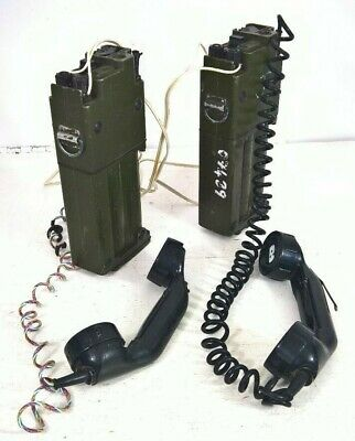 BRITISH ARMY FIELD TELEPHONES X2 Racal • 55£