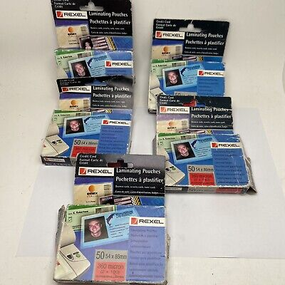 Lot Of Rexel Badge Credit Card Laminating Pouches 54mm X 68mm 41608 • 14.99£