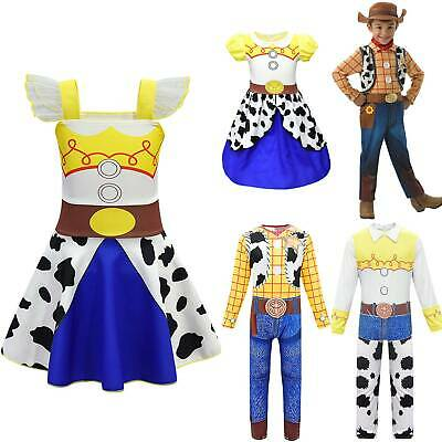 Kids Boys Girls Toy Story 4 Jessie Woody Masquerade Party Costume Cosplay Outfit • 14.89£