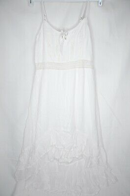 Abercrombie & Fitch Women's White High Low Lace Dress Size Medium Brand New • 25.01£