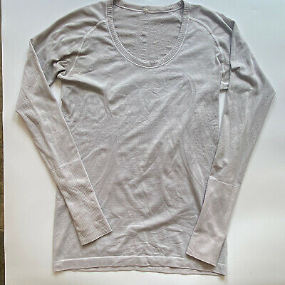 $ CDN51.90 • Buy Lululemon Swiftly Tech Long Sleeve Shirt Women's Size 10 Light Gray