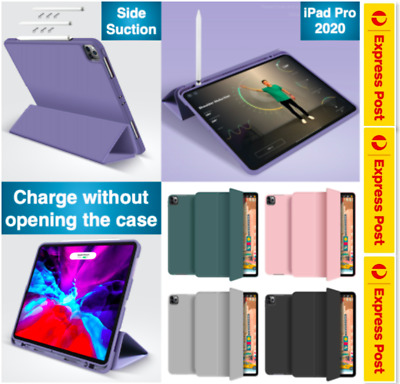 AU24.99 • Buy Year 2020 IPad Pro 12.9 Inch Pro 11 Inch Smart Cover Pencil Holder Case TPU Back