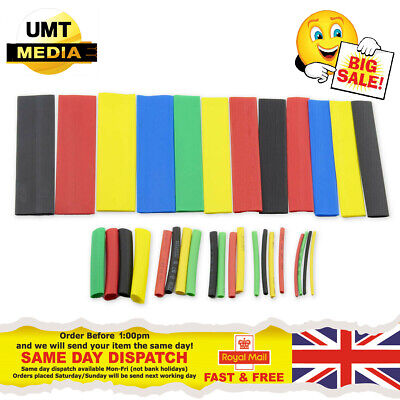 328pc Assorted Heat Shrink Cable Wire Tubing Tube Sleeve Kit Car Electrical Wrap • 3.95£