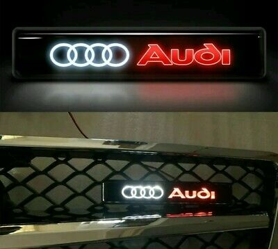 🇬🇧 AUDI Front Grille Badge Led Light Luminous Universal GRILL A3 A4 A5 A6 Q7  • 13.89£