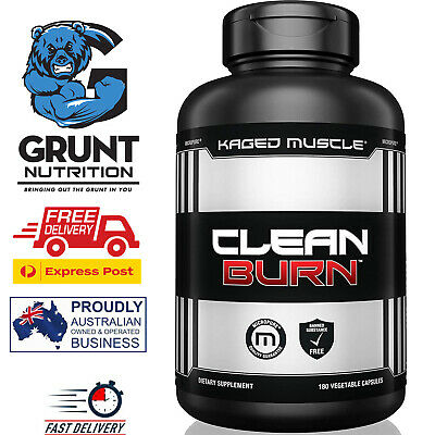 AU61.99 • Buy Kaged Muscle Clean Burn 180 Capsules { Shred Lean Mode C4 Ripped Fast Shipping