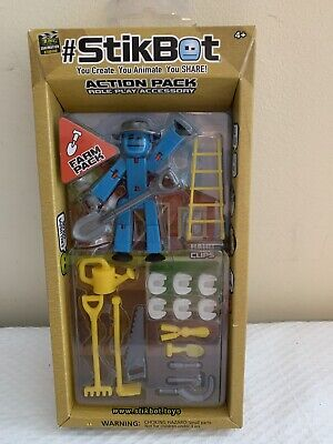 Zing Stikbot Action Pack Blue Farm Pack Role Play Accessory  • 10.31£