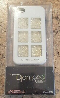 Iphone 4/4S Case White Diamond Case By Advanced Accessories Sparkly Bling Gold • 4.99£
