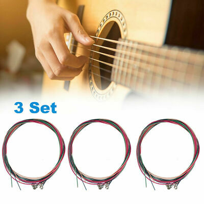 $ CDN9.07 • Buy 3 X Set Of Guitar Strings Replacement Steel String For Acoustic Guitar