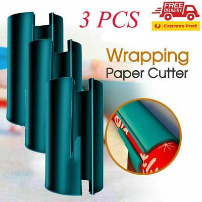 AU13.49 • Buy 3 PCS Sliding Wrapping Paper Cutter Craft Christmas Gift Cutting Tools VW AU