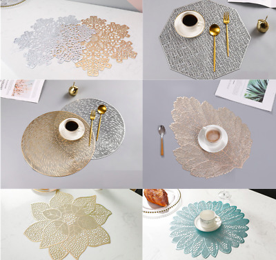 AU23.99 • Buy Up To SET 6 X Dining Table Placemat PVC Insulation Tableware Kitchen Decoration