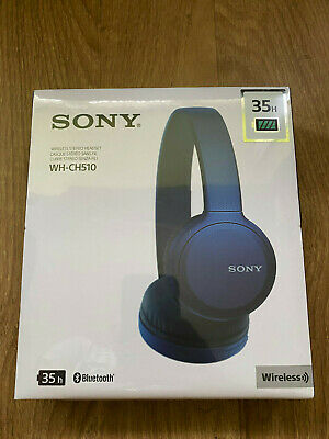 SONY WH-CH510 Wireless Bluetooth Headphones - BLUE ,NEW ,Sealed !!! • 37.99£
