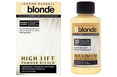 DUO Jerome Russell Bblonde High Lift POWDER Bleach + Cream Peroxide 30v9% • 8.49£