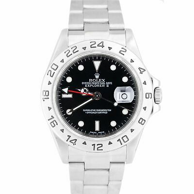$ CDN8544.33 • Buy 2007 Rolex Explorer II SEL NO-HOLES Stainless Black Date GMT 40mm Watch 16570