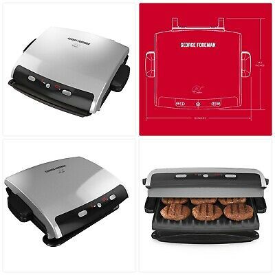 George Foreman 6-Serving Removable Plate Electric Indoor Grill And Panini Press, • 111.75£